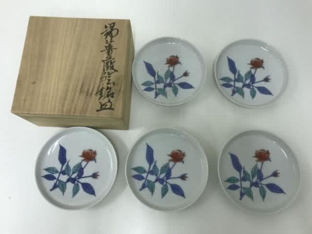 錦薔薇絵銘々皿