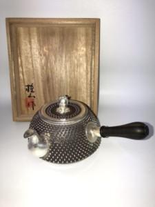 桂山作 純銀製急須