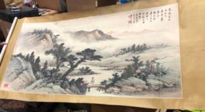 黄君壁『山水図』掛軸