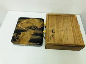 李泉作 蒔絵硯箱